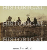 Historical Photo of Indian Encampment 1861 - Sepia by Al