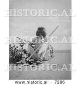 Historical Photo of Indian Man Smoking 1907 - Black and White by Al