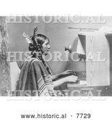 Historical Photo of Indian Telephone Operator 1925 - Black and White by Al