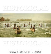 Historical Photo of Indians Fishing on the Saint Marys River 1901 by Al