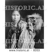 Historical Photo of Inuit Mother 1912 - Black and White by Al