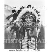 December 13th, 2013: Historical Photo of Iron Shell, Lakota Sioux Indian 1908 - Black and White by Al