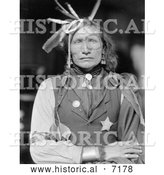 December 13th, 2013: Historical Photo of Iron White Man, Sioux Native American 1900 - Black and White by Al