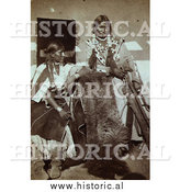 Historical Photo of Jicarilla Apache Brave and Wife 1874 - Sepia by Al