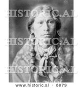 Historical Photo of Jicarilla Chief Garfield 1905 - Native American Indian - Black and White Version by Al