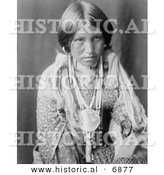 Historical Photo of Jicarilla Indian Girl 1905 - Black and White Version by Al