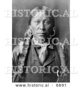 Historical Photo of Jicarilla Indian Man - Black and White Version by Al