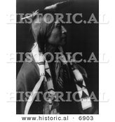 Historical Photo of Jicarilla Man - Native American Indian - Black and White Version by Al
