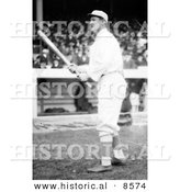 Historical Photo of Jim Thorpe of the Giants, Standing with a Baseball Bat at Polo Grounds - Black and White Version by Al
