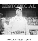 Historical Photo of Jim Thorpe Wearing His Giants Uniform While Looking Around at Polo Grounds, New York - Black and White Version by Al