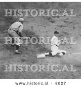 Historical Photo of Joe Judge Stealing Third Base During the 1924 World Series Between the Washington Senators and the New York Giants - Black and White Version by Al