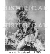 Historical Photo of John Comes Again, a Sioux Indian 1899 - Black and White by Al