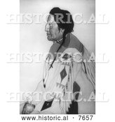 Historical Photo of John Two-Gun White Calf, Blackfoot Indian Chief 1921 - Black and White by Al