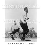 Historical Photo of Jose Ferrer and Paul Robeson Playing Baseball - Black and White Version by Al
