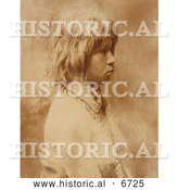 December 18th, 2013: Historical Photo of Judith, a Mohave Woman 1903 - Sepia by Al