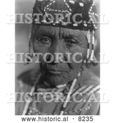 Historical Photo of Klamath Native American Woman 1923 - Black and White by Al