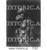 Historical Photo of Kwakiutl Man 1914 - Black and White by Al