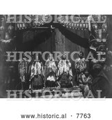 Historical Photo of Kwakiutl Wedding Party 1914 - Black and White by Al