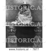 Historical Photo of Kwakiutl Woman 1910 - Black and White by Al