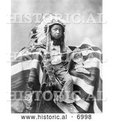 December 13th, 2013: Historical Photo of Lakota Indian, Joseph Bird Head 1899 - Black and White by Al