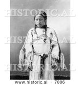 December 13th, 2013: Historical Photo of Lakota Indian Woman, Julia American Horse 1900 - Black and White by Al