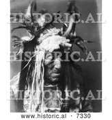 December 13th, 2013: Historical Photo of Lean Wolf, a Hidatsa Native American Man 1908 - Black and White by Al