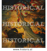 Historical Photo of Liberty and Soldiers During Battle - Vintage Military War Poster by Al