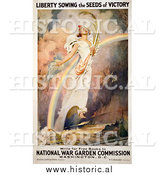 Historical Photo of Liberty with a Rainbow - Vintage Military War Poster by Al