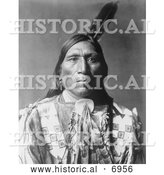December 13th, 2013: Historical Photo of Little Hawk, Brule American Indian 1907 - Black and White by Al