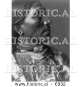December 13th, 2013: Historical Photo of Little Hawk, Brule Native American Indian 1907 - Black and White by Al