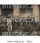 Historical Photo of Louis Firetail in a Classroom 1900 - Sepia by Al