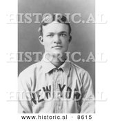 Historical Photo of Luther Haden Taylor of the NY Giants Baseball 1903 - Black and White Version by Al