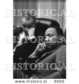 Historical Photo of Lyndon B. Johnson Sitting with Martin Luther King Jr. - Black and White Version by Al