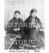 Historical Photo of Makah Indian Basket Weavers 1910 - Black and White by Al
