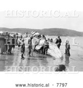 Historical Photo of Makah Whalers 1910 - Black and White by Al