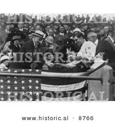 Historical Photo of Manager Stanley Harris Presenting President John Coolidge at a Baseball Game - Black and White Version by Al