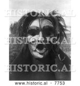 Historical Photo of Mask of Tsunukwalahl 1914 - Black and White by Al