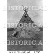 Historical Photo of Mat Lodge 1910 - Black and White by Al