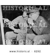 Historical Photo of Military Soldiers: Omar Bradley and Lesley J. McNair - Black and White Version by Al