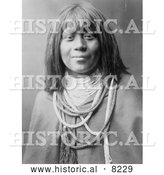 Historical Photo of Mis Se Pah, Mohave Woman 1903 - Black and White by Al