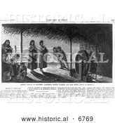 December 13th, 2013: Historical Photo of Mission Indians Making Baskets and Ropes 1877 - Black and White by Al