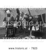 Historical Photo of Mnainak, a Yakima Chief Indian 1910 - Black and White by Al