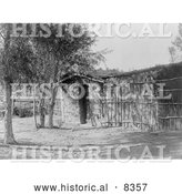 Historical Photo of Modern Chemehuevi Dwelling 1907 - Black and White by Al