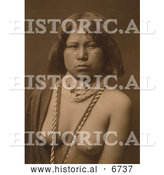 Historical Photo of Mohave Native American Indian Woman 1903 - Sepia by Al