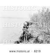 Historical Photo of Mohave Water Carrier 1903 - Black and White by Al