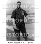 Historical Photo of Mordecai Brown or Three Finger, a Pitcher for the Chicago Cubs, 1911 - Black and White Version by Al