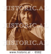 Historical Photo of Native American Acoma Woman 1904 - Sepia by Al