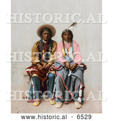 December 14th, 2013: Historical Photo of Native American Indian Couple, Pee Viggi and His Wife, Posing Together by Al