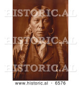 Historical Photo of Native American Jicarilla Man 1904 - Sepia by Al