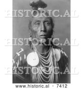 December 13th, 2013: Historical Photo of Native American Man Called Medicine Crow 1908 - Black and White by Al